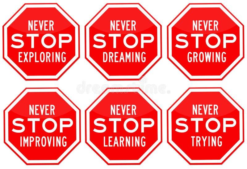 Stoppen Sie nie stock abbildung