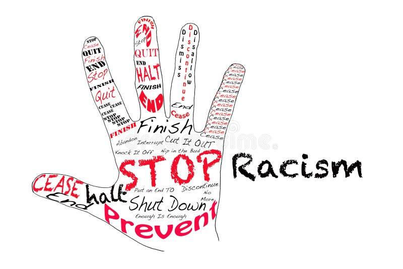 Stoppen Sie Rassismus stock abbildung