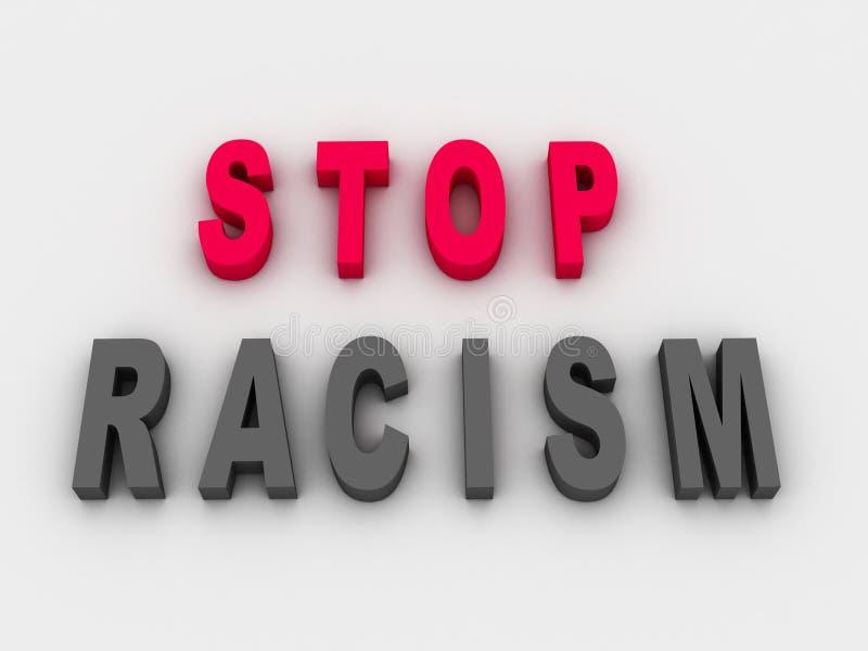 Stoppen Sie Rassismus-Konzept stock abbildung