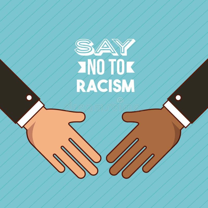 Stoppen Sie Rassismusbild vektor abbildung