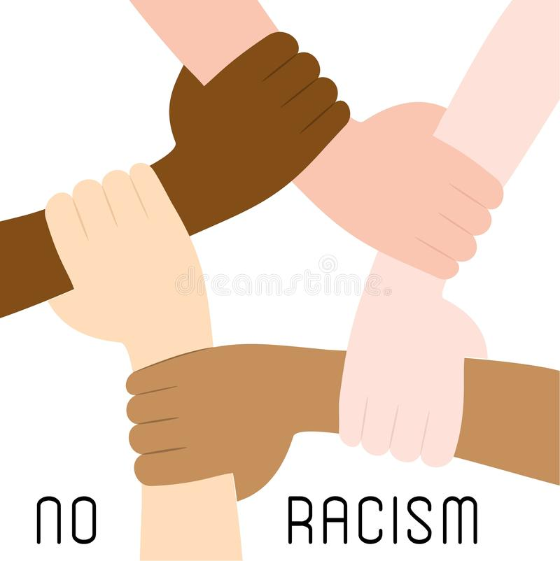 Stoppen Sie Rassismusikonenplakat lizenzfreie abbildung