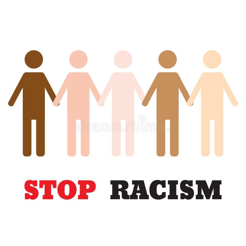 Stoppen Sie Rassismusikonenplakat stock abbildung