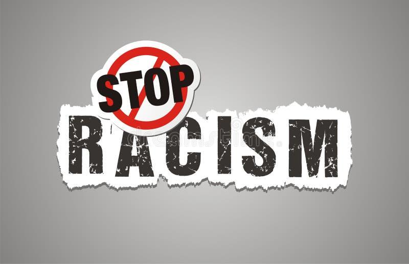 Stoppen Sie Rassismusplakat, beckdrop, Fahne lizenzfreie abbildung