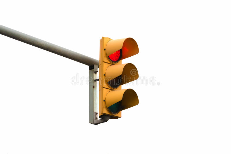 Stoppen Sie rote Lichtsignalvertretung stockfoto