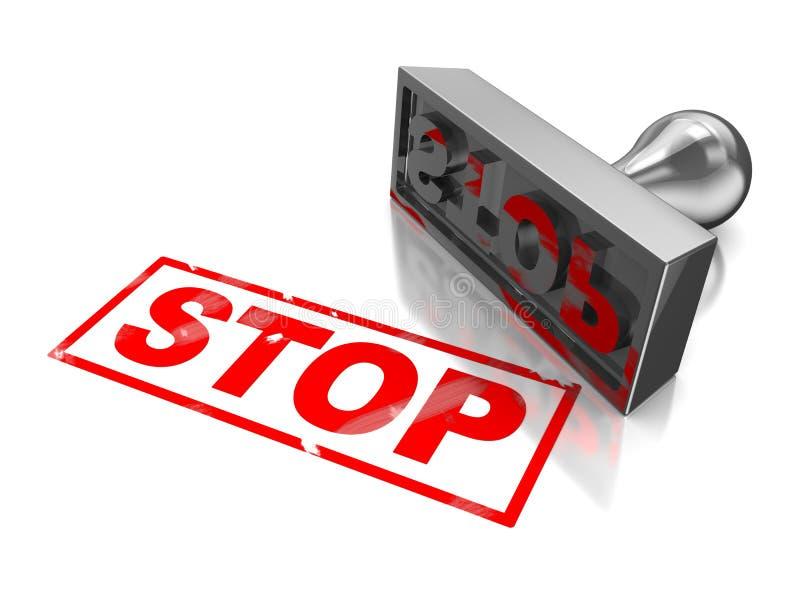 Stoppen Sie Stempel lizenzfreie abbildung