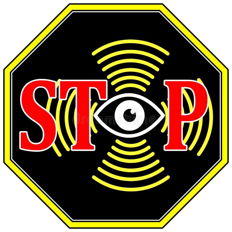 Stoppen Sie Surveilance lizenzfreie abbildung
