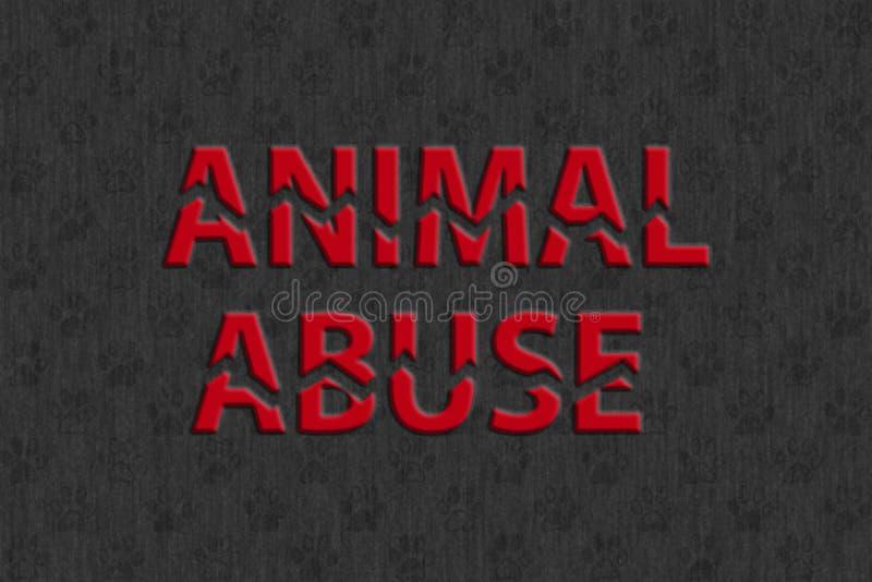 Stoppen Sie Tiermissbrauch vektor abbildung