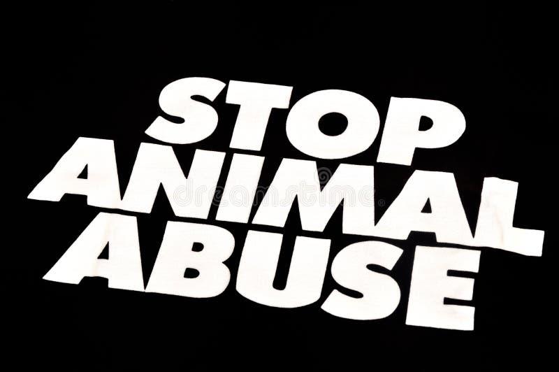 Stoppen Sie Tiermissbrauch stockbild