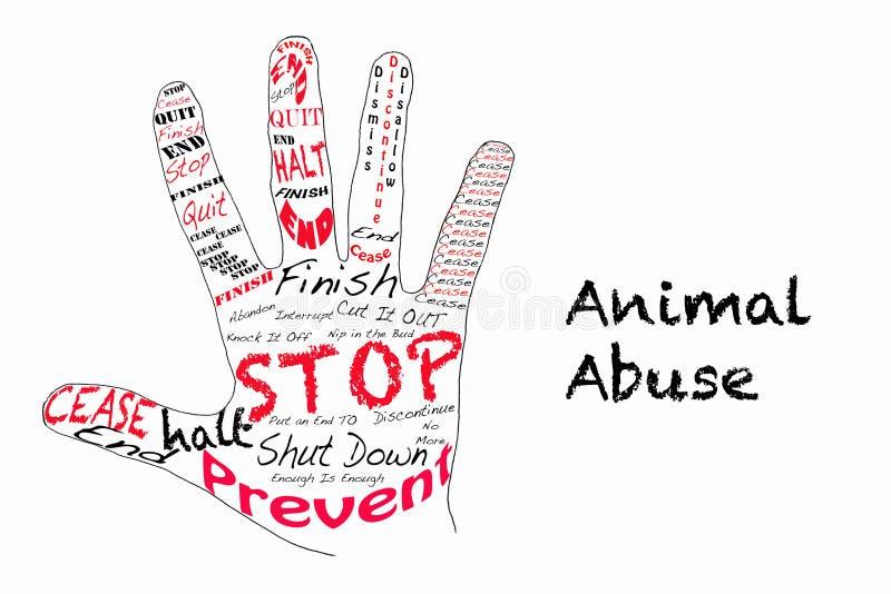 Stoppen Sie Tiermissbrauchsillustration stock abbildung