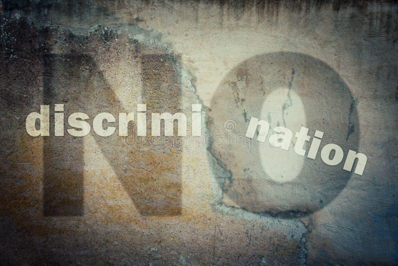 Stoppen Sie Unterscheidung agains Minderheiten lizenzfreie abbildung