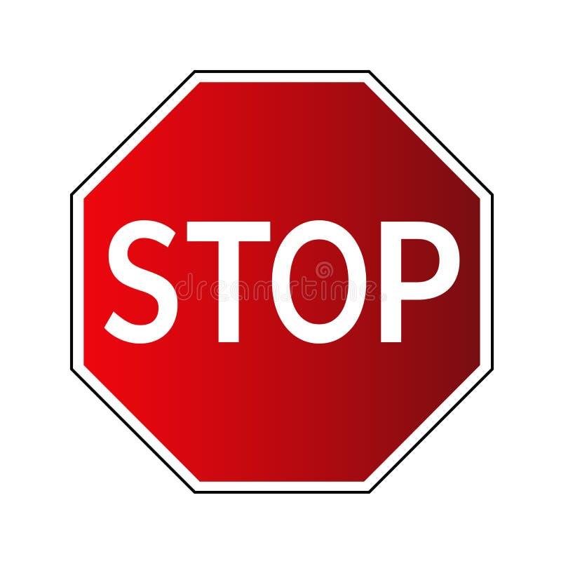 Stoppen Sie VerkehrsVerkehrsschild lizenzfreie abbildung
