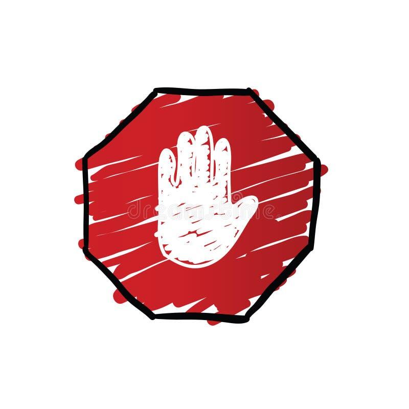Stoppen Sie Verkehrszeichenillustration vektor abbildung