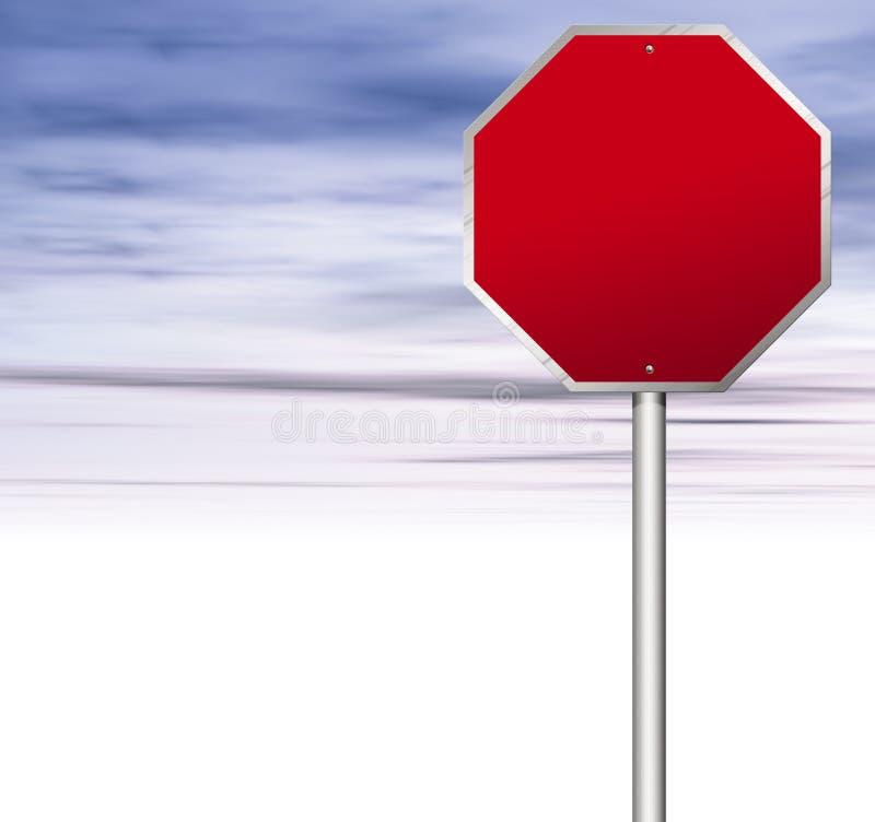 Stoppen Sie Zeichen lizenzfreie abbildung