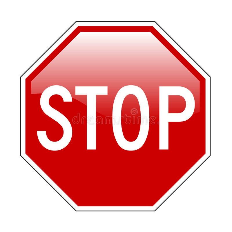Stoppen Sie Zeichen vektor abbildung