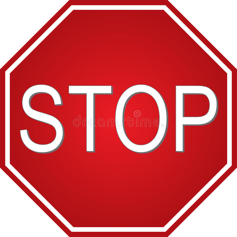 Stoppen Sie Zeichen stock abbildung