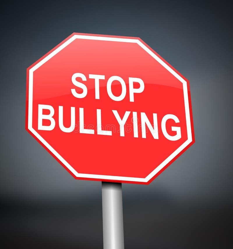 Stoppen Sie, Zeichen zu tyrannisieren. stock abbildung