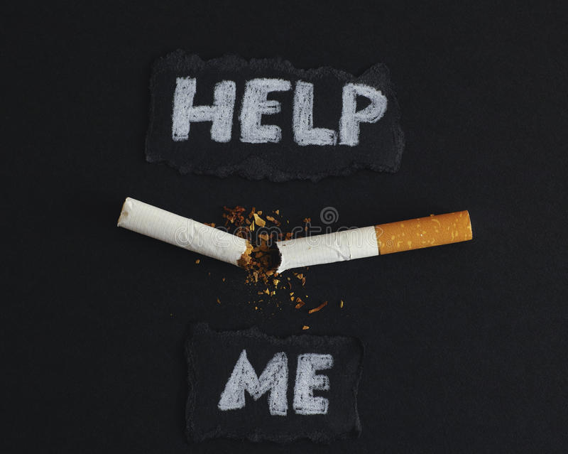 Stoppen Sie zu rauchen! stockbild