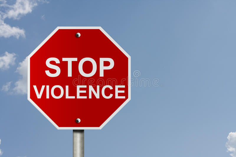 Stopping Violence royalty free stock photo