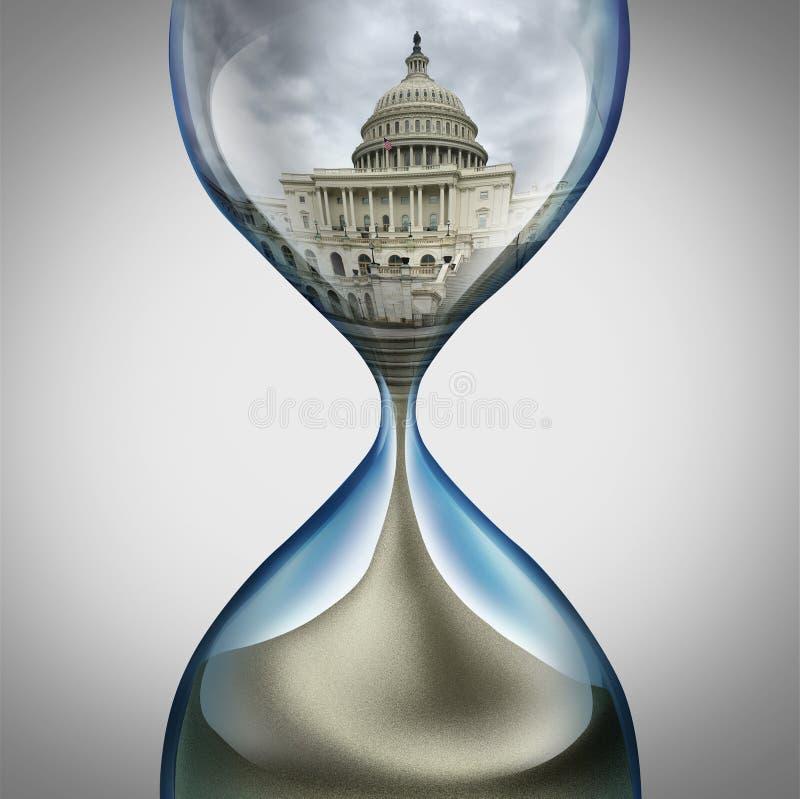 Stopptid för Förenta staternaregering stock illustrationer