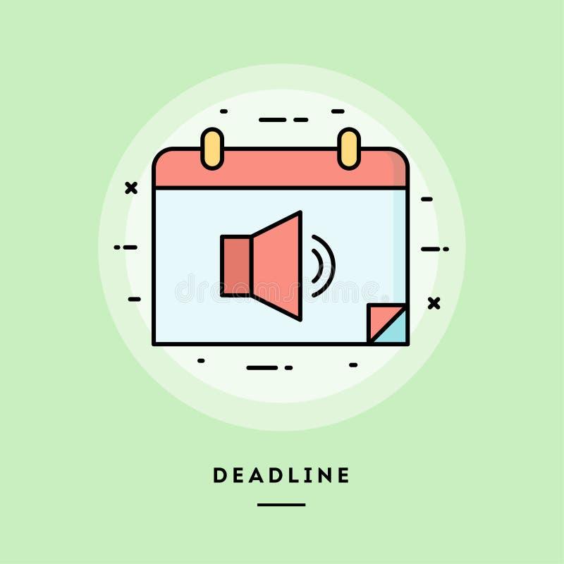 Stopptid tunn linje baner för plan design royaltyfri illustrationer