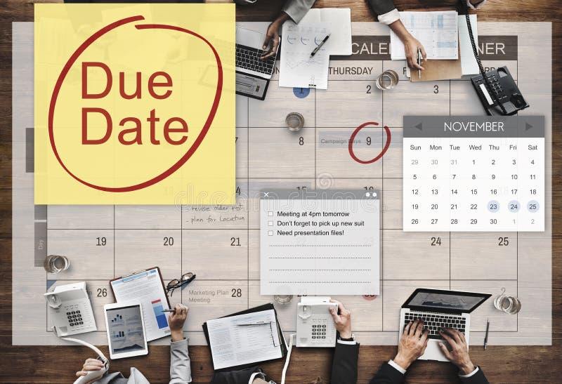Stopptidbetalning Bill Important Notice Concept för förfallet datum arkivfoton