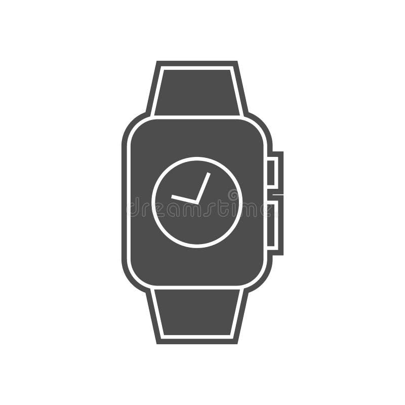 Stoppuhr auf intelligenter Uhrikone Element von minimalistic f?r bewegliches Konzept und Netz Appsikone Glyph, flache Ikone f?r W lizenzfreie abbildung
