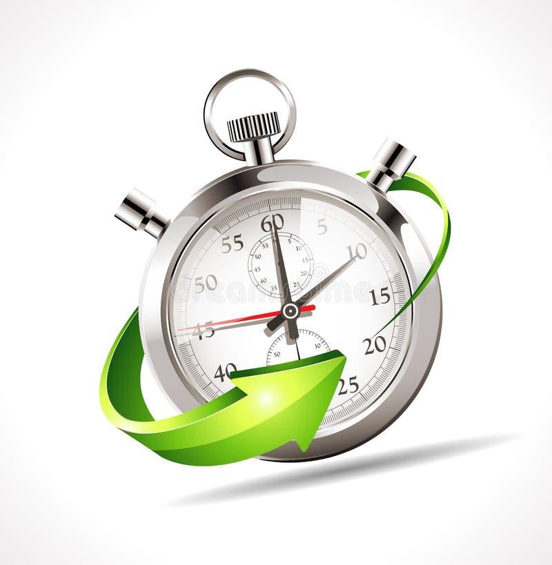 Stoppuhr - beschleunigen Sie Zeit vektor abbildung
