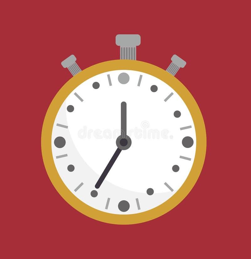 stoppuhr Count-downkonzept Chronometeruhr, analoges Chronometer stock abbildung