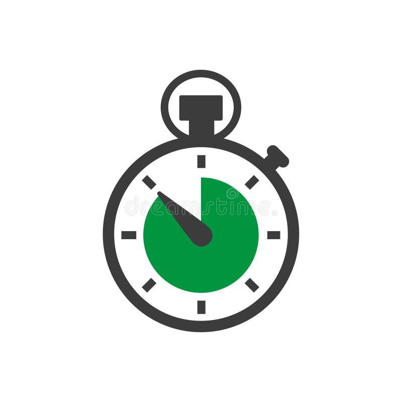 Stoppuhr in einem flachen Design Vektorabbildung EPS10 lizenzfreie abbildung