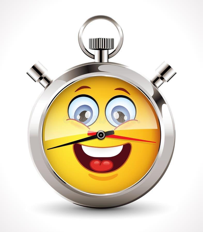 Stoppuhr - glückliche Stunde stock abbildung