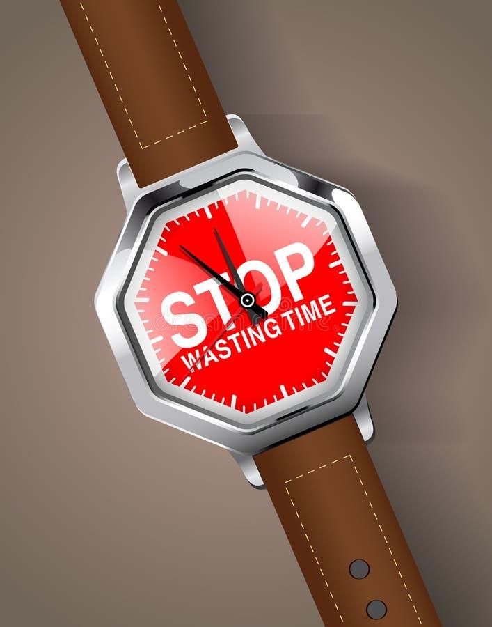 Stoppuhr - hören Sie auf, Zeit zu vergeuden vektor abbildung