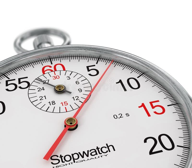 stoppuhr Merken Sie die Zeit stock abbildung