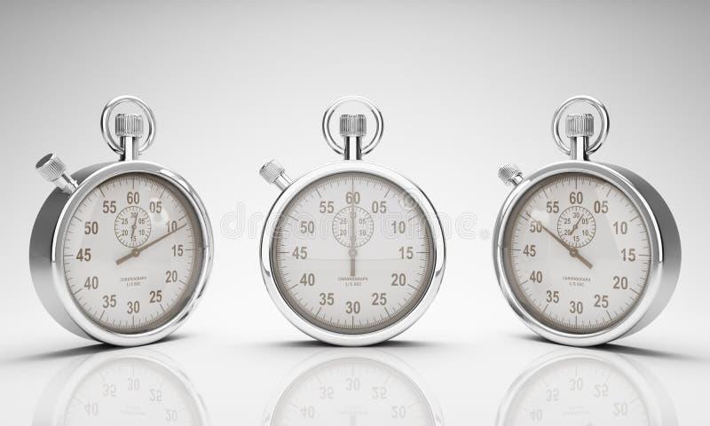 Stoppuhr mit Ausschnitts-Pfad für Vorwahlknöpfe und Uhr lizenzfreie abbildung
