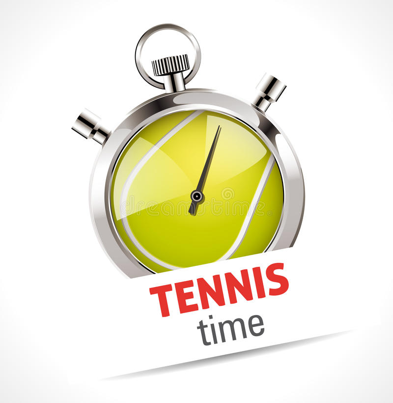Stoppuhr - Sport-Tennis lizenzfreie abbildung