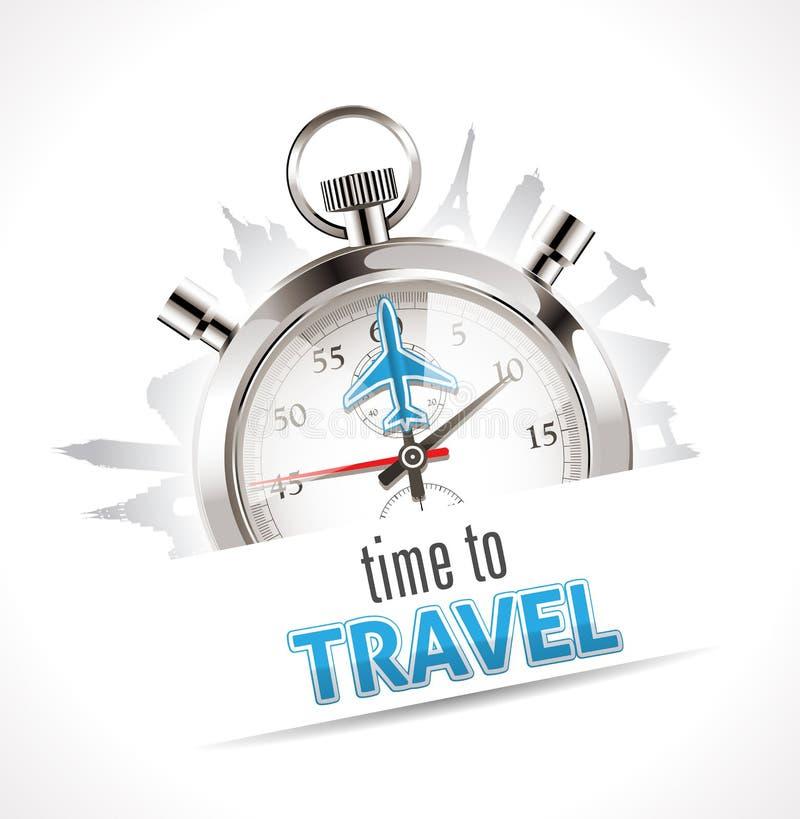Stoppuhr - Zeit zu reisen stock abbildung