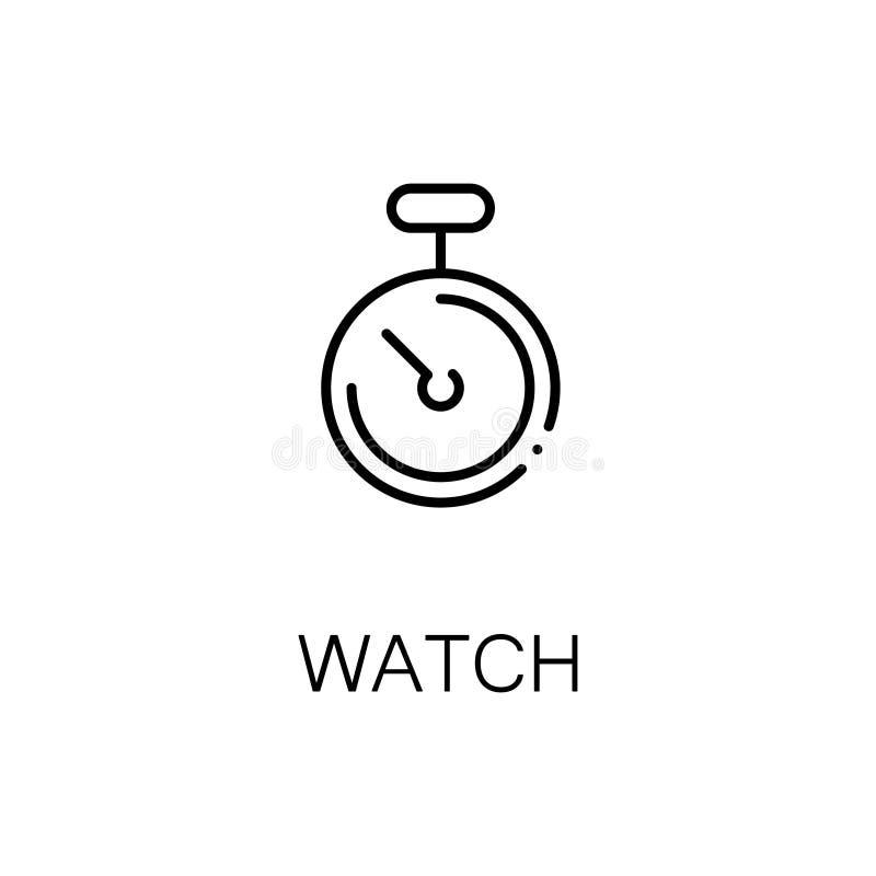 Stoppuhrikone oder -logo für Webdesign stock abbildung