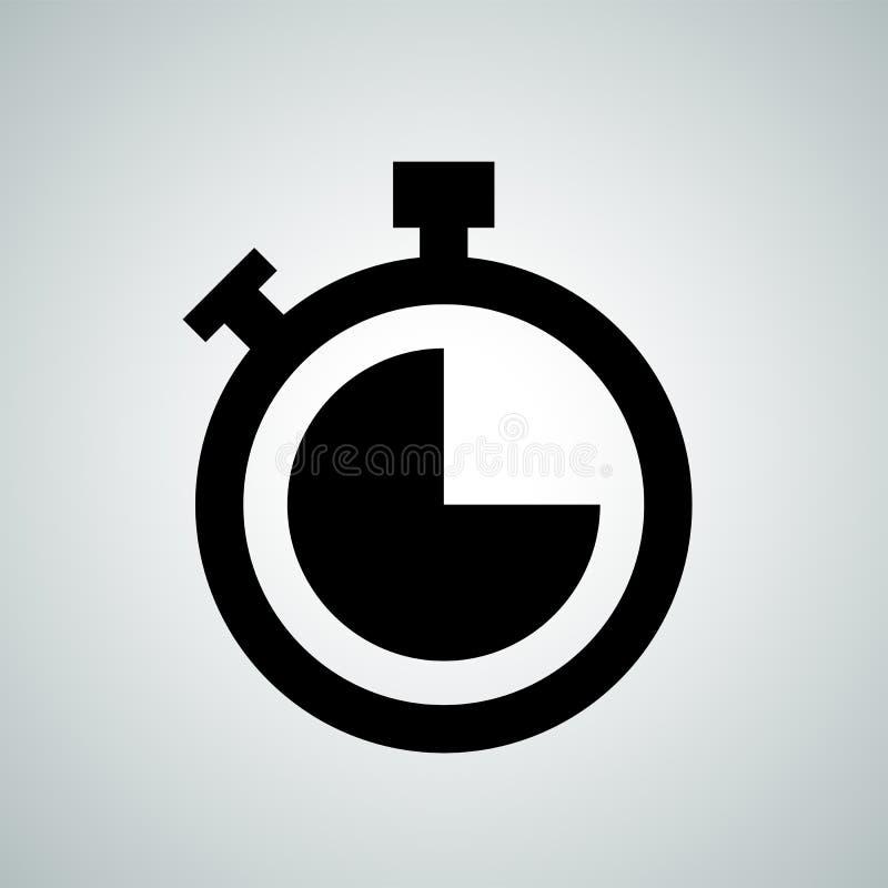 Stoppurnedräkningklockan knäppas vektorsymbolen royaltyfri illustrationer