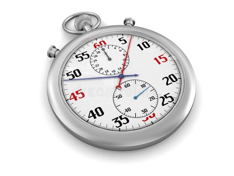 Stopwatch (ścinek ścieżka zawierać) ilustracja wektor