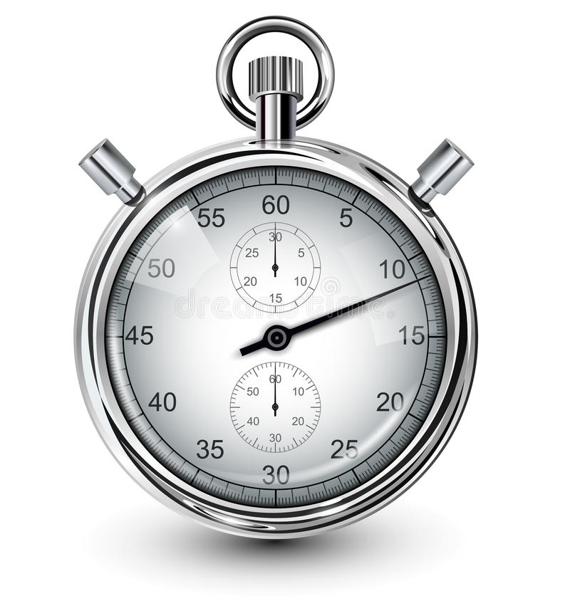 stopwatch royaltyfri illustrationer