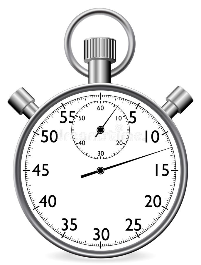 Stopwatch stock illustrationer