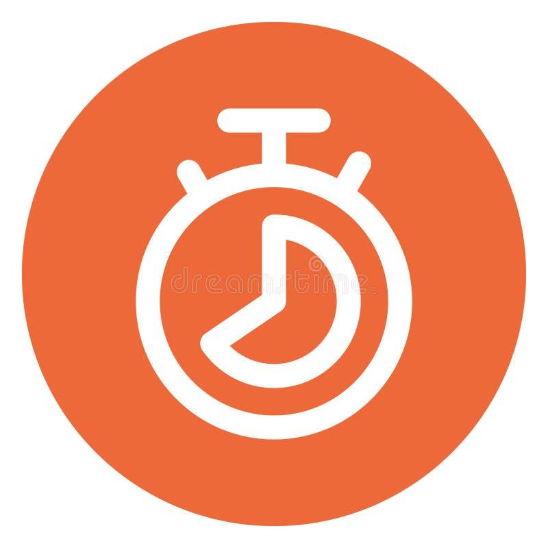 Stopwatch, Alarm Bold Vector Icon que puede ser editado o modificado fácilmente stock de ilustración