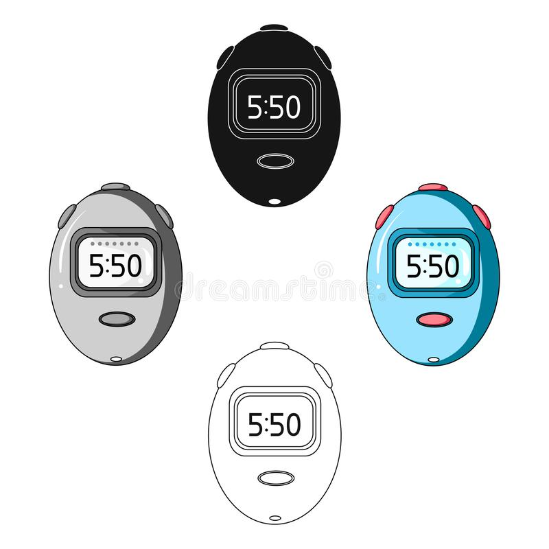 Stopwatch for calculating time and speed of travel.Cyclist outfit single icon in cartoon style vector symbol stock. Web illustration royalty free illustration