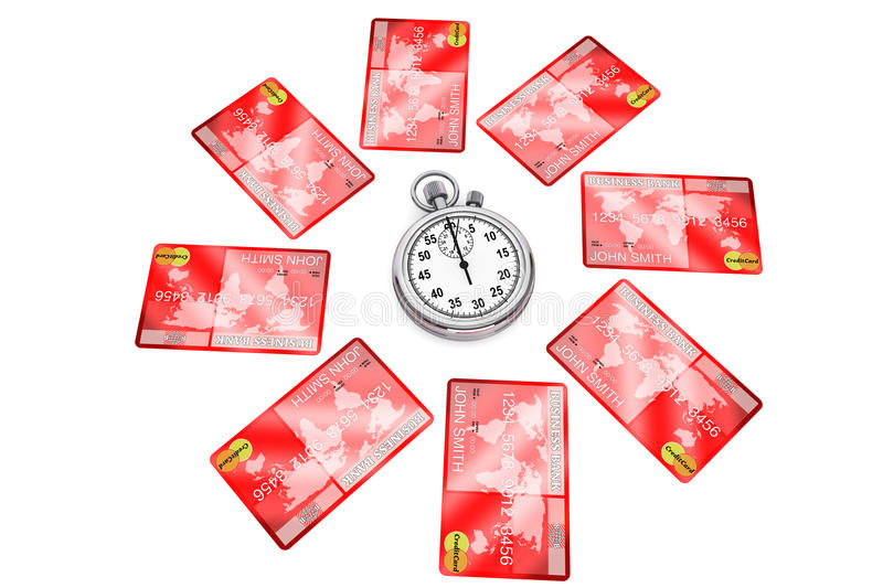 Download StopWatch with Credit Card stock photo. Image of crisis - 26534508