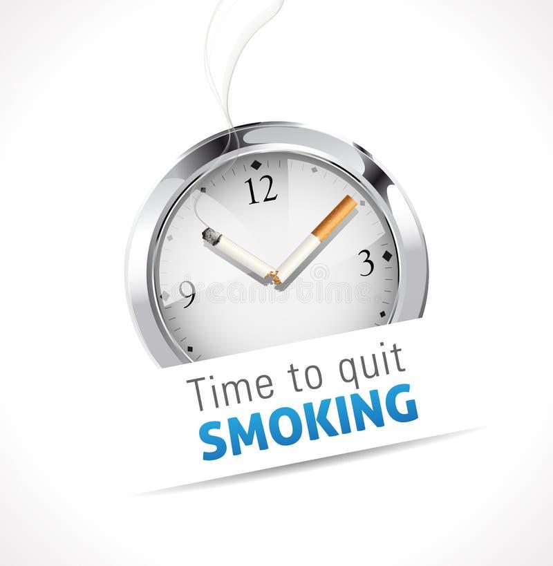 Stopwatch - czas rezygnować dymienie ilustracja wektor