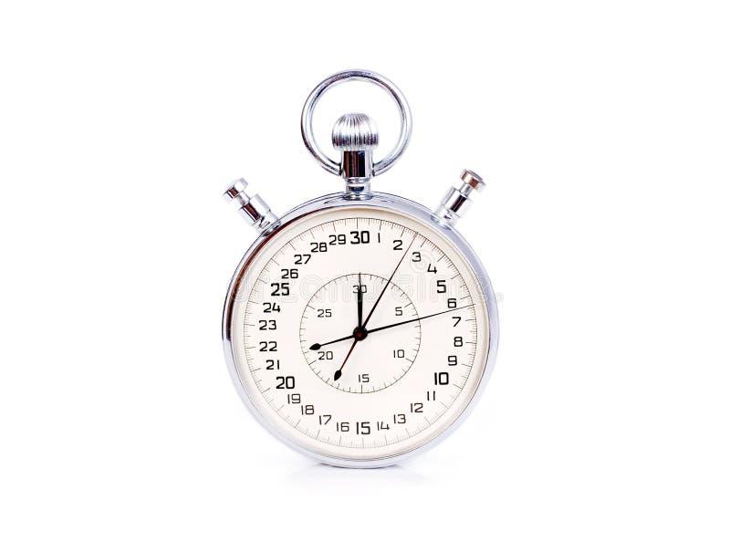 stopwatch duży odosobniony biel zdjęcie royalty free