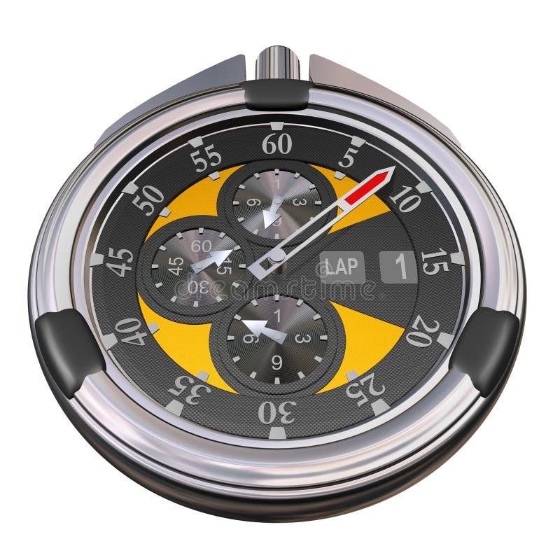 stopwatch för kolkromsport vektor illustrationer