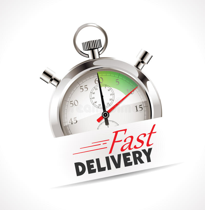 Stopwatch - fast delivery vector illustration