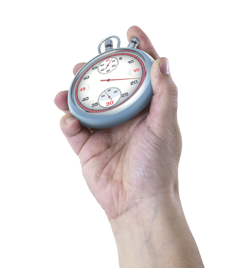 Download Stopwatch Hand stock image. Image of time, measure, clock - 24424363