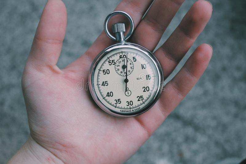 Stopwatch In Hand Free Public Domain Cc0 Image