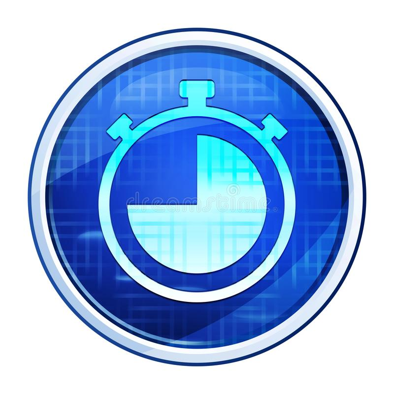 Stopwatch icon futuristic blue round button vector illustration. Stopwatch icon isolated on futuristic blue round button vector illustration royalty free stock image